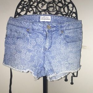 Aeropostale, light wash jean shorts.